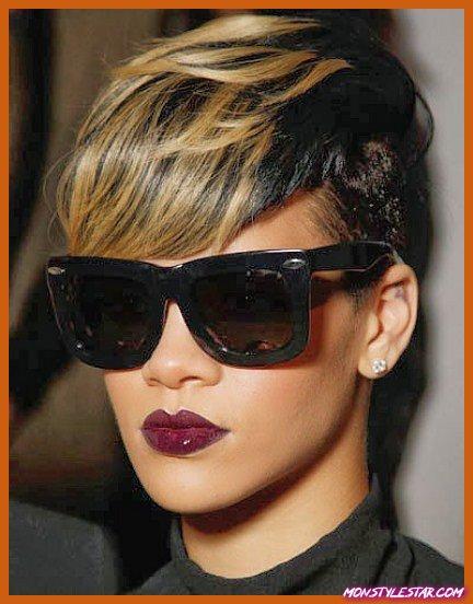 Dramatic Mohawk Style- Les coiffures courtes de Rihanna