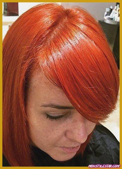 Hot Side Bang - Nuances de cheveux roux