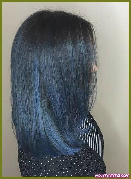 Coiffures Denim Blue Bob blue ombre