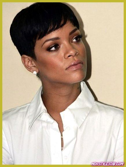 Look chic avec une coupe courte - les coiffures courtes de Rihanna