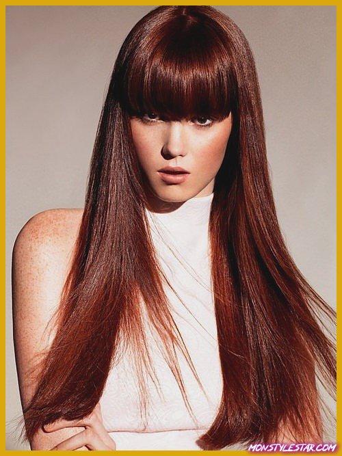 Franges avec des cheveux raides pour les cheveux longs naturels
