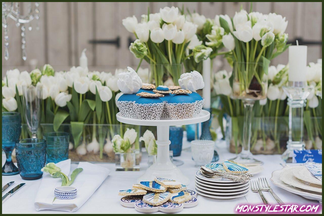 Inspiration magnifique pour un mariage néerlandais bleu et blanc