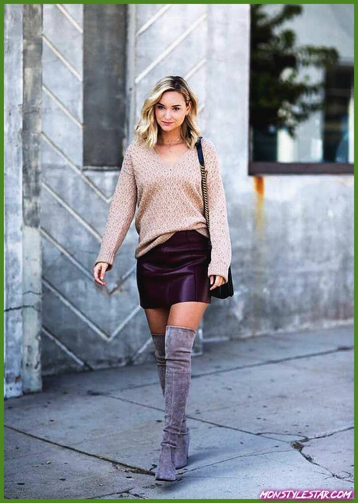 20 belles idées de tenues de jupe en cuir à essayer