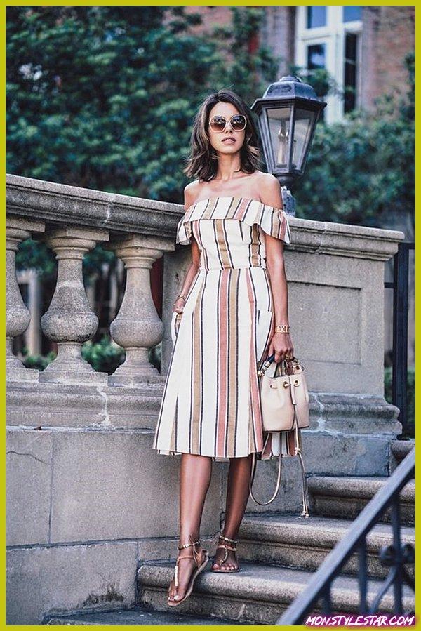 20 idées de tenue de robe midi