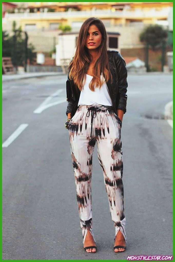20 superbes idées de tenues de pantalons imprimés