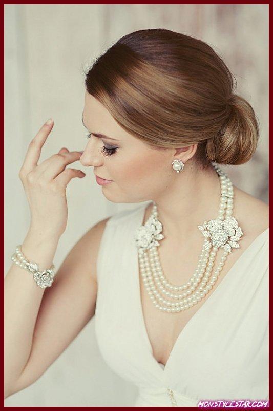Photo de 25 colliers uniques pour les bijoux de mariée