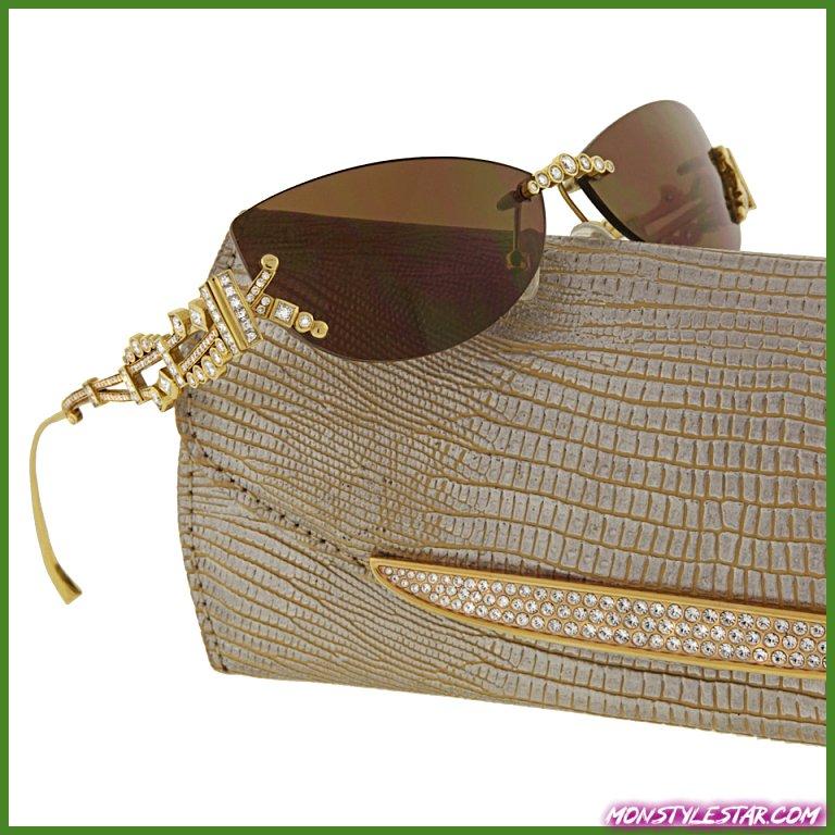 Photo de 40 lunettes de soleil en or et diamant les plus élégantes