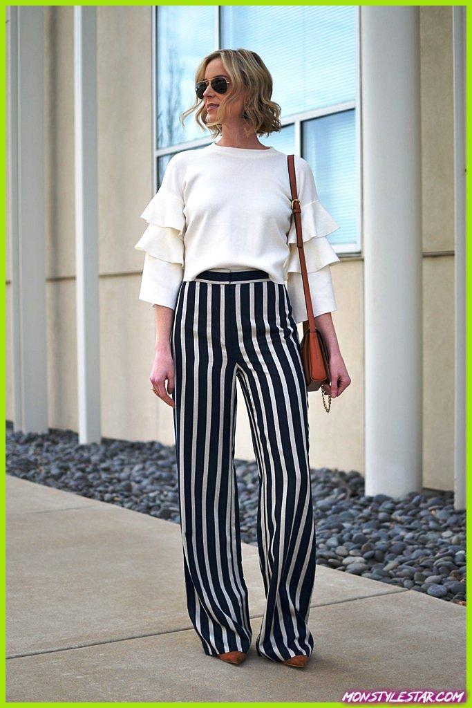 Photo de Superbes pantalons à rayures pour les femmes à essayer cette année